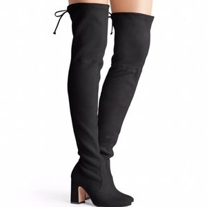 Charlotte Russe  over the knee boot faux suede 9
